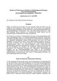 Gesetz zur Förderung von Kindern in Kindertageseinrichtungen und ...