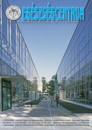 2005-09 Egészségcentrum.indd - Debreceni Egyetem Orvos- és ...