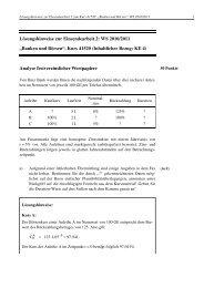 """Lösungshinweise zur Einsendearbeit 2: WS 2010/2011 """"Banken ..."""