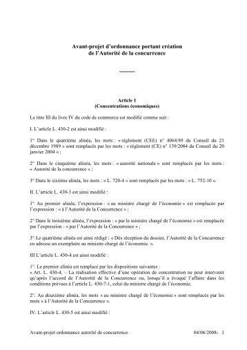 Ordonnance Aut de Concurrence 3juin2008 - le cercle du barreau
