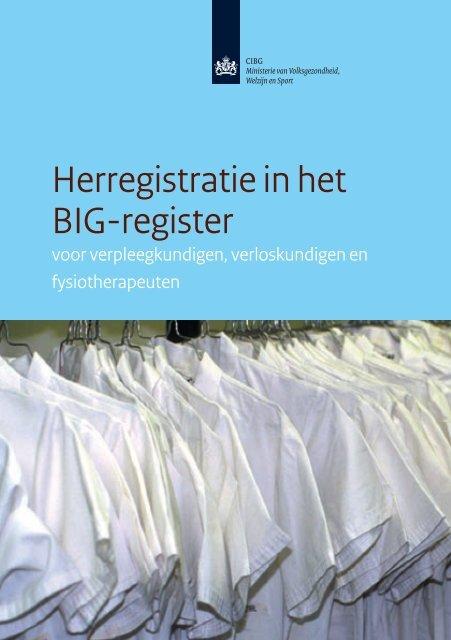 Herregistratie in het BIG-register - Verpleegkundigen ...