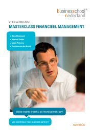 masterclass financieel management - Business School Netherlands