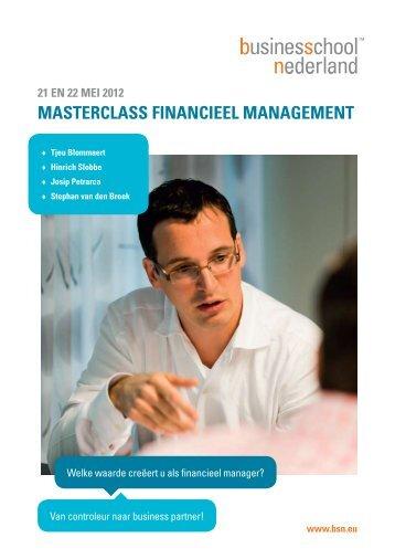masterclass financieel management - Business School Netherlands