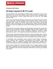 44 lampu isyarat di JB, PJ rosak - Jabatan Audit Negara