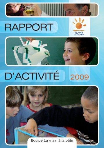 RAPPORT D'ACTIVITÉ 2009 - La main à la pâte