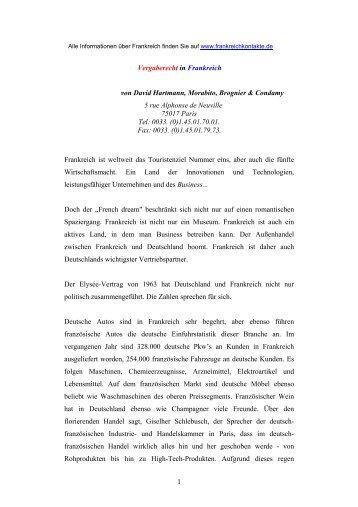 Das französische Vergaberecht als PDF Datei - Frankreich
