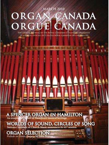 A Spencer Organ in Hamilton.