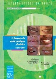 Les actes de la 5e journée de santé publique dentaire