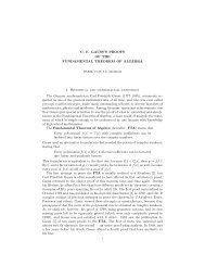 Gauss's proofs of the fundamental theorem of Algebra