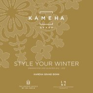STYLE YOUR WINTER - Kameha Grand Bonn