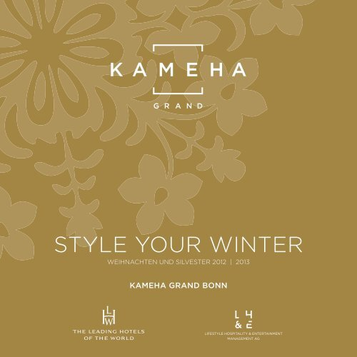 STYLE YOUR WINTER - Kameha Grand Bonn
