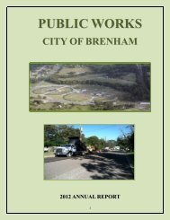PUBLIC WORKS DIVISION - City of Brenham