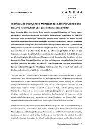 Thomas Kleber ist General Manager des Kameha Grand Bonn