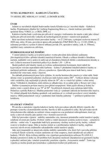 TUNEL KLIMKOVICE – KABELOVÁ ŠACHTA - Amberg Engineering