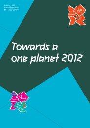 London 2012 Sustainability Plan November 2007 - Social Enterprise ...