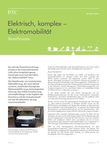 Elektrisch, komplex – Elektromobilität - PTC.com