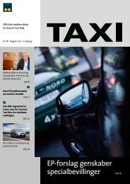 EP-forslag genskaber specialbevillinger - Dansk Taxi Råd