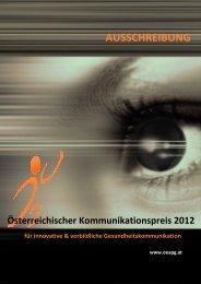 Österreichischer Kommunikationspreis 2012 - Vorarlberg