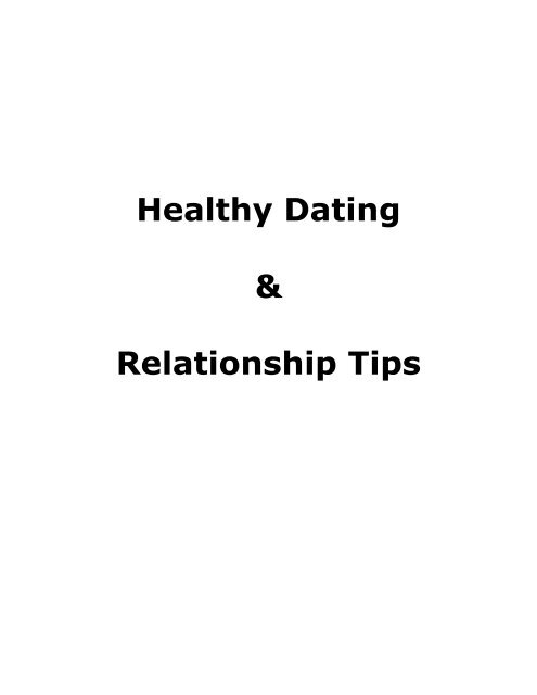 dating and relationship tips