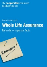 Whole Life Assurance - The Co-operative Insurance