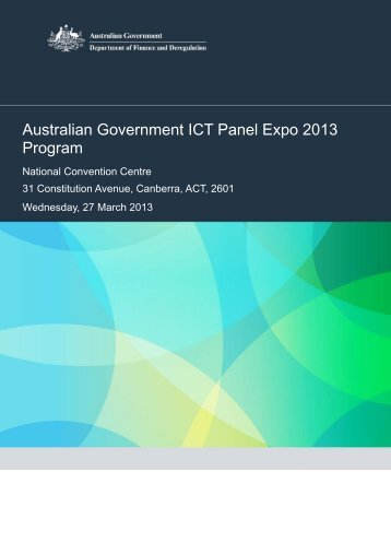 Australian Government ICT Panel Expo 2013 Program