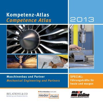 Kompetenz-Atlas Competence Atlas - Die Maschinenbau Redaktion