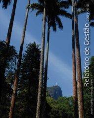 Relatório de Gestão 2003-2010 - Jardim Botânico do Rio de Janeiro