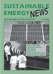 SEN 40 - International Network for Sustainable Energy