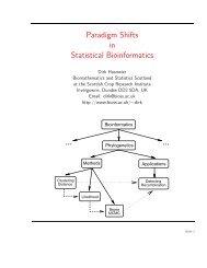 Paradigm Shifts in Statistical Bioinformatics - Biomathematics and ...