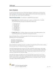 SARscape Basic Module - Exelis VIS