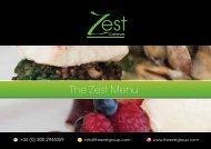 The Zest Menu - Zest Caterers