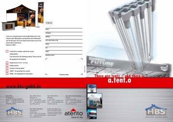 a.tent.o - HBS GmbH