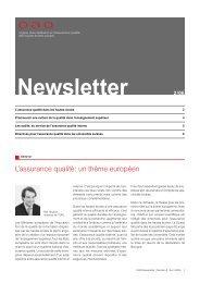 L'assurance qualité: un thème européen - OAQ Organ für ...