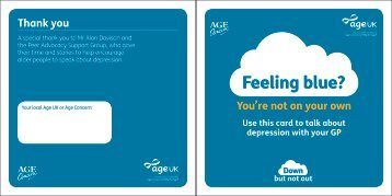 Feeling Blue? A interactive workbook for older people - Age UK