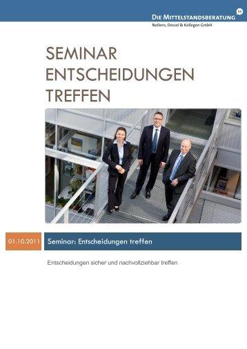 Seminar Entscheidungen treffen - Mittelstandsberatung Nollens ...