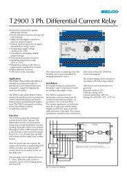 T2900 3 Ph. Differential Current Relay - DSL electronic ® GmbH