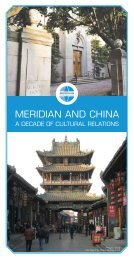 Meridian and China - a decade of cultural relations. ENG. *.PDF, 5.8 ...