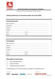 ZSSV Briefpapier - Zentralschweizer Schneesport Verband