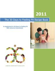 The 30 Days to Feeling Fit Recipe Book