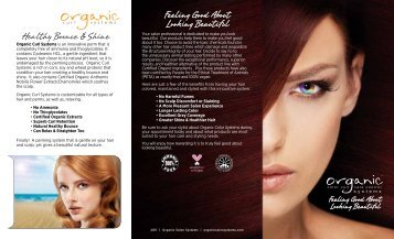 Feeling Good About Looking Beautiful - Organic Color Systems