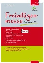 Eintritt frei! - Freiwilligenmesse 2013 - Stadt Nürnberg