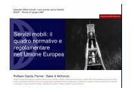 Servizi mobili: il quadro normativo e regolamentare nell ... - Key4biz