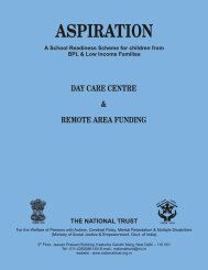 (Day Care) & Remote Area Funding Scheme - National Trust
