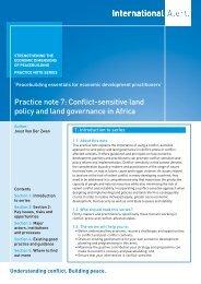 Practice note 7: Conflict-sensitive land policy ... - International Alert