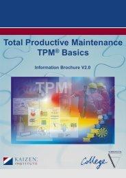 Total Productive Maintenance - Kaizen Institute Singapore