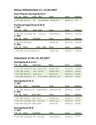 Elzer Turniererfolge von April bis Mai 2007 - Ruf-elz.de