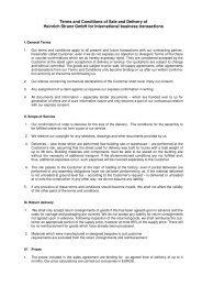 Terms and Conditions of Sale and Delivery of  Heinrich ... - Lamilux