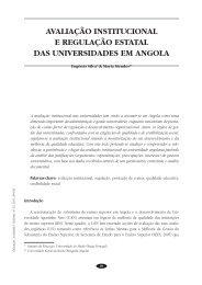 Avaliação institucional e regulação estatal das universidades em