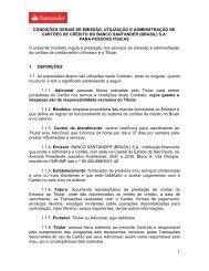 1 CONDIÇÕES GERAIS DE EMISSÃO, UTILIZAÇÃO E ... - Santander