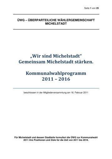 Wahlprogramm 2011-2016 finaler Stand 24-02-11 - Schusterxxl.de